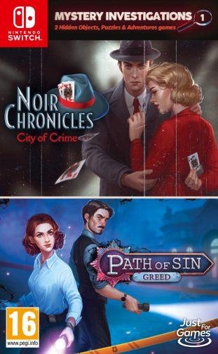 Mystery Investigations 1 – NOIR CHRONICLES: City of Crime + Patch of Sin: GREED
